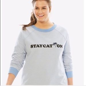 Woman Within staycation graphic SWEATSHIRT